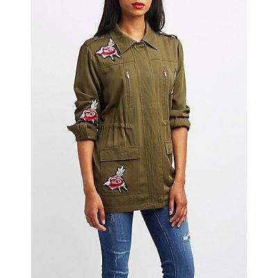 Rose Patch Anorak Jacket