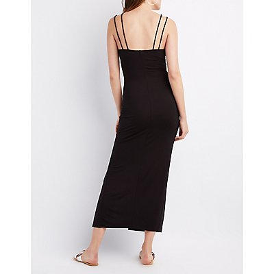 Strappy Caged Maxi Dress