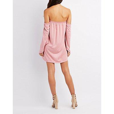 Bell Sleeve Off-The-Shoulder Dress