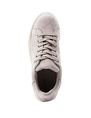 Faux Suede Lace-Up Sneakers