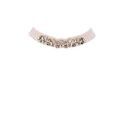Plus Size Embellished Velvet Choker Necklace