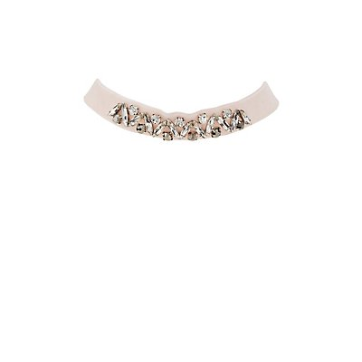 Plus Size Embellished Velvet Choker Necklace