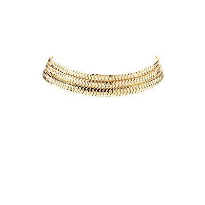 Plus Size Snake Chain Choker Necklace