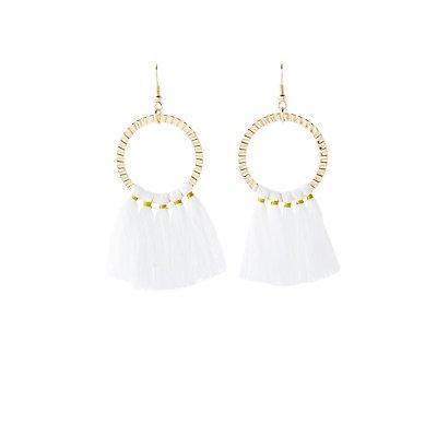 Textured Hoop & Tassel Earrings