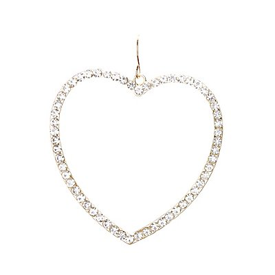 Embellished Heart Hoop Earrings