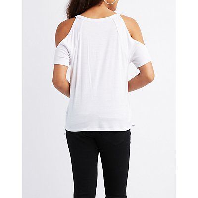 Girls Bite Back Cold Shoulder Tee