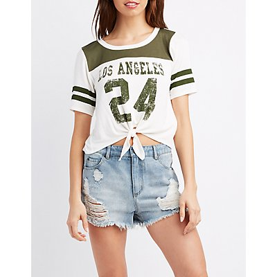 Los Angeles Knotted Football Tee