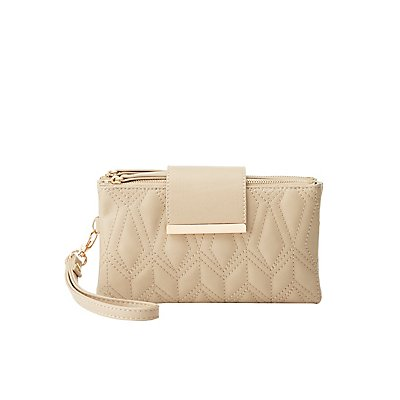 Quilted Double-Zipper Wristlet