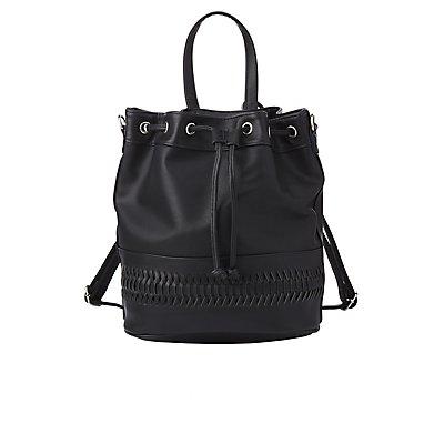 Convertible Bucket Backpack