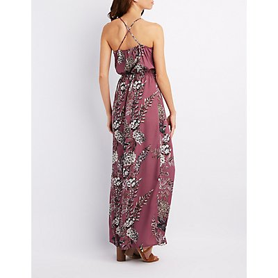 Floral Crisscross Maxi Dress