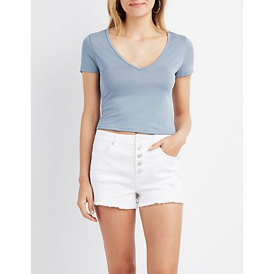 V-Neck Crop Top