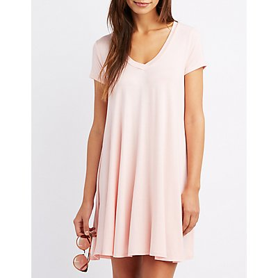V-Neck Swing Dress