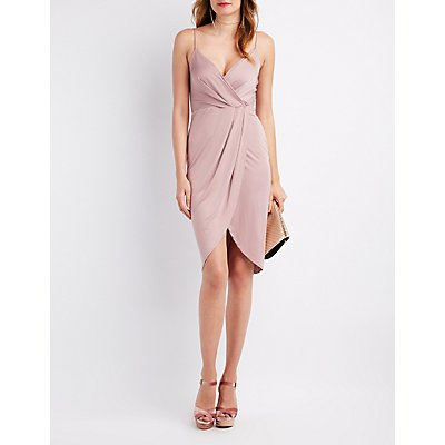 Surplice Tulip Bodycon Dress