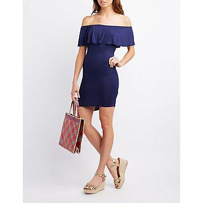 Off-The-Shoulder Ruffle Dress