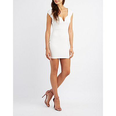Lace-Up Back Bodycon Dress