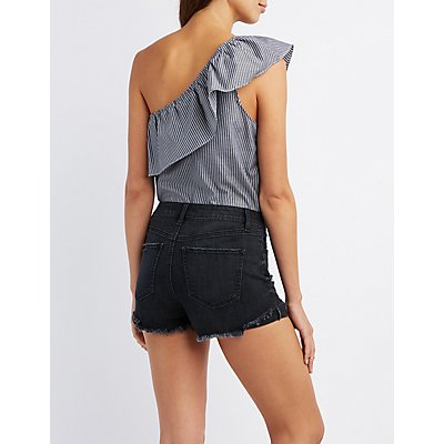 Ruffle One-Shoulder Bodysuit