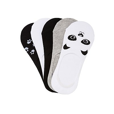 Assorted Panda Shoe Liners - 5 Pack