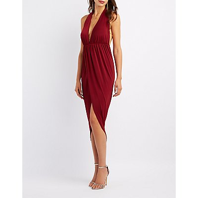 Halter Neck Wrap Dress