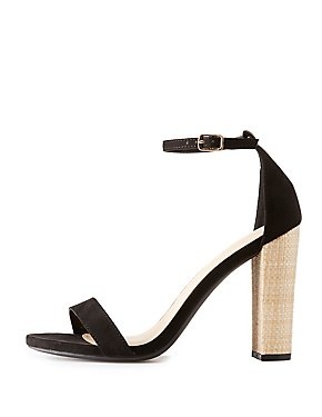 Jute Heel Two-Piece Sandals