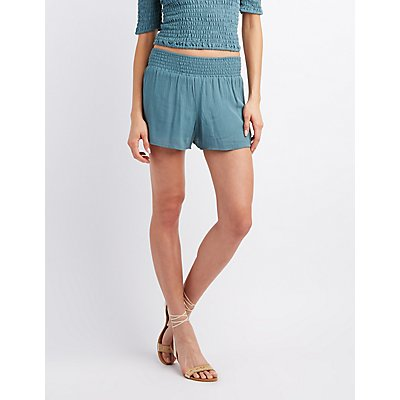 Smocked Gauze Shorts