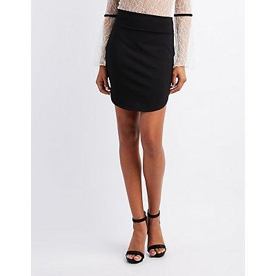 Ponte Knit Bodycon Skirt