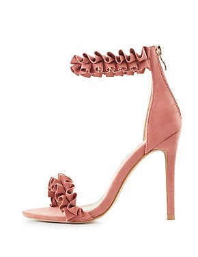 Ruffle-Trim Two-Piece Sandals