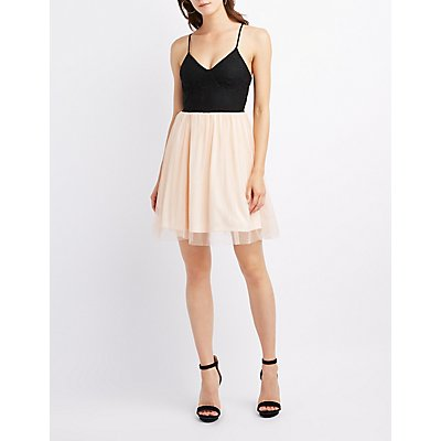 Lace & Tulle Skater Dress