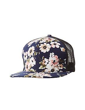 Floral Print Trucker Hat
