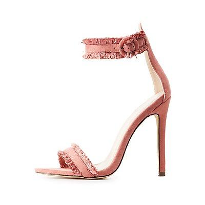 Fringe Two-Piece Dress Sandals