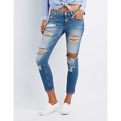Refuge Crop Boyfriend Destroyed Jeans