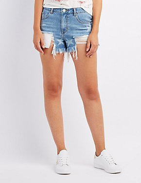 Refuge Hi-Rise Cut-Off Denim Shorts