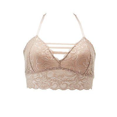 Plus Size Caged Lace Racerback Bralette