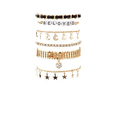 Beloved Layering Bracelets - 6 Pack