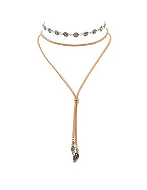 Chainlink Choker & Bolero Necklace - 2 Pack