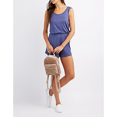 Wrapped Open Back Romper