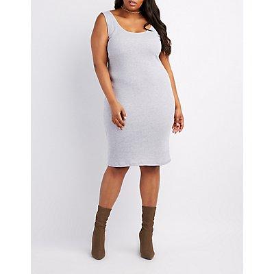 Plus Size Bodycon Midi Dress