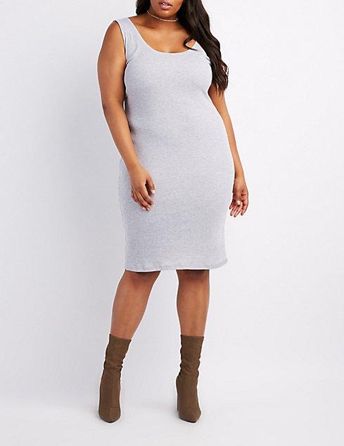 Plus Size Bodycon Midi Dress Charlotte Russe