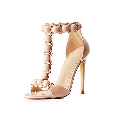 Beaded T-Strap Sandals