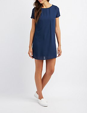 Caged Back Shift Dress