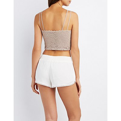 Lace Caged Crop Top