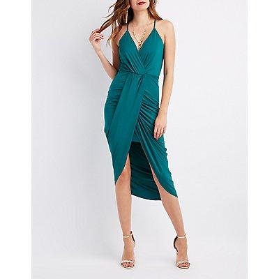 Surplice Tulip Maxi Dress