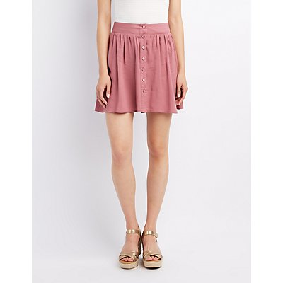 Button-Up Skater Skirt