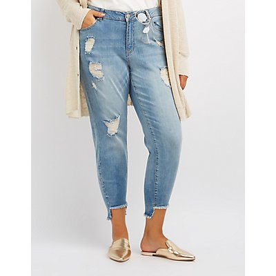 Plus Size Refuge Destroyed Skinny Jeans