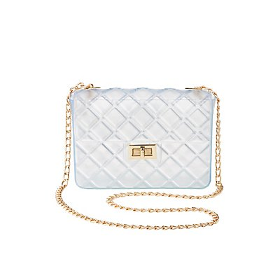 Clear Quilted Crossbody Bag