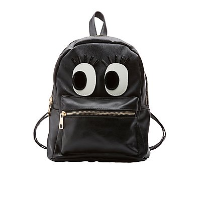 Flirty Eye Faux Leather Backpack