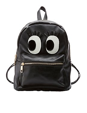 Flirty Eye Faux Leather Backpack