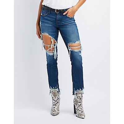 Refuge Skinny Boyfriend Destroyed Jeans