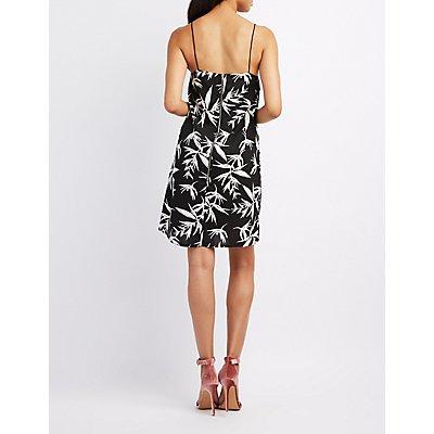 Tropical Print Shift Dress