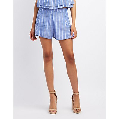 Striped High-Rise Shorts