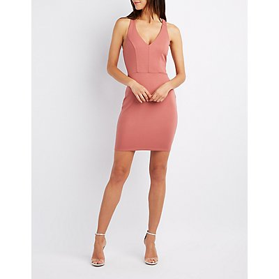 Strappy Back Bodycon Dress